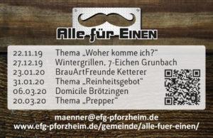 Alle für EINEN - Flyer Winter 19/20